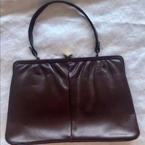 Vintage frame leather purse set
